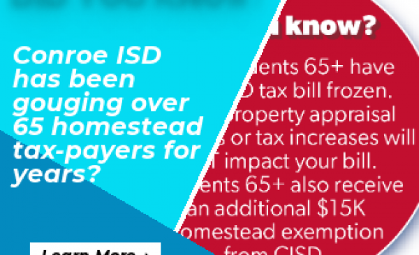 Disingenuous! Conroe ISD and their propaganda targets the 16%