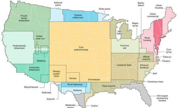 The Way Land Is Really Used Across The U.S
